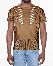Brown Pattern All-over T-Shirt aos-all-over-T-shirt-lifestyle-front-02