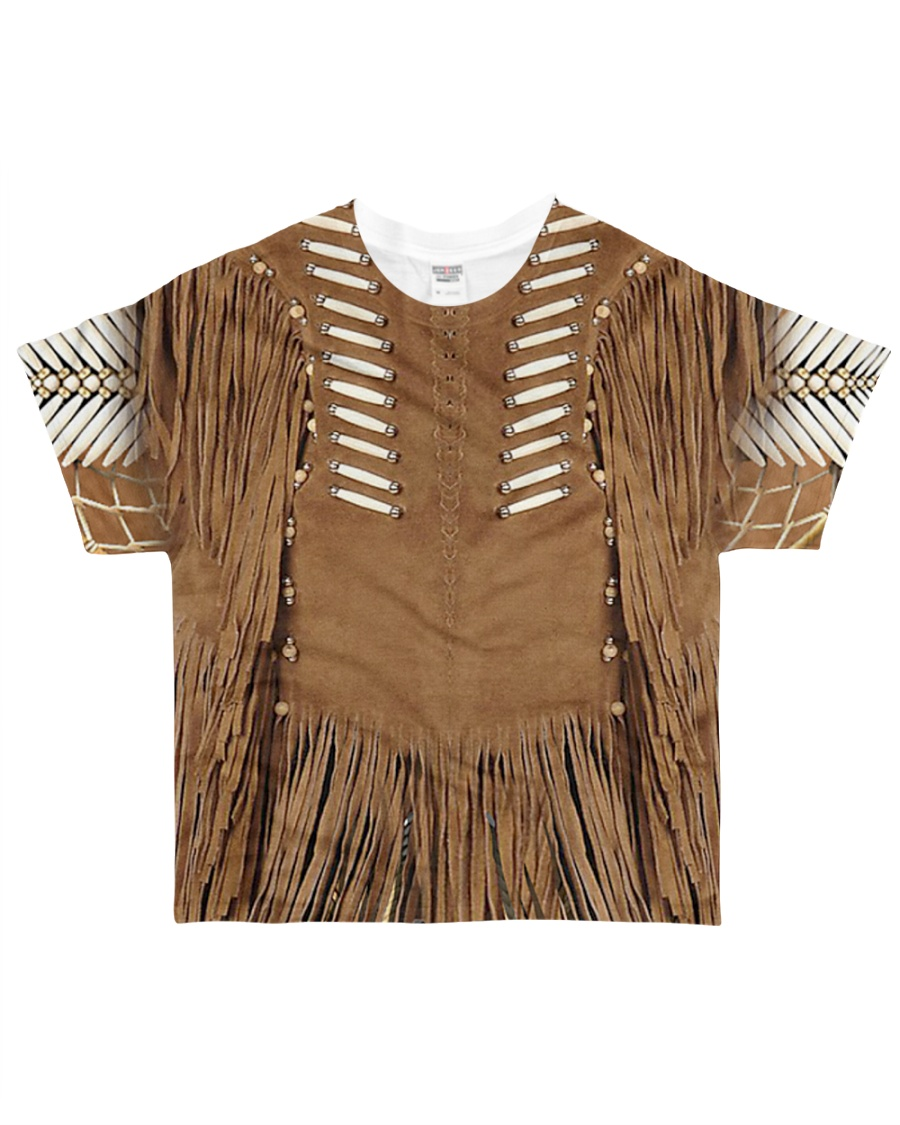 Brown Pattern All-over T-Shirt