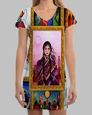 Native Woman All-over Dress aos-dress-front-lifestyle-3