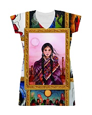 Native Woman All-over Dress front