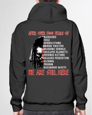 We are still here Hooded Sweatshirt garment-hooded-sweatshirt-back-04