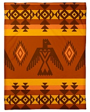 "Orange Pattern Small Fleece Blanket - 30"" x 40"" thumbnail"