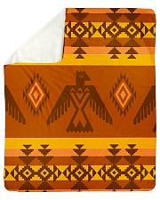 "Orange Pattern Sherpa Fleece Blanket - 50"" x 60"" thumbnail"