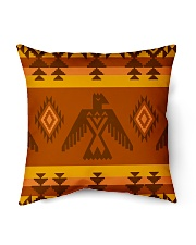 "Orange Pattern Indoor Pillow - 16"" x 16"" thumbnail"