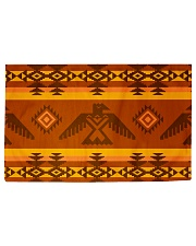 Orange Pattern Woven Rug - 3' x 2' front