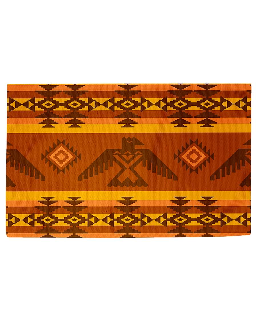 Orange Pattern Woven Rug - 6' x 4'