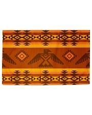 Orange Pattern Woven Rug - 6' x 4' front