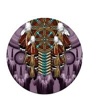 Purple Dreamcatcher Circle Coaster thumbnail