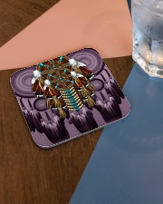 Purple Dreamcatcher Square Coaster aos-homeandliving-coasters-square-lifestyle-01