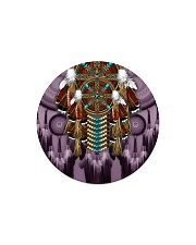 Purple Dreamcatcher Circle Magnet thumbnail