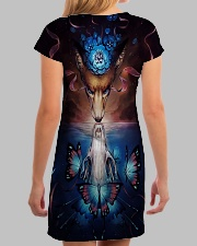 Wolf skull butterfly All-over Dress aos-dress-back-lifestyle-3