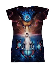Wolf skull butterfly All-over Dress back