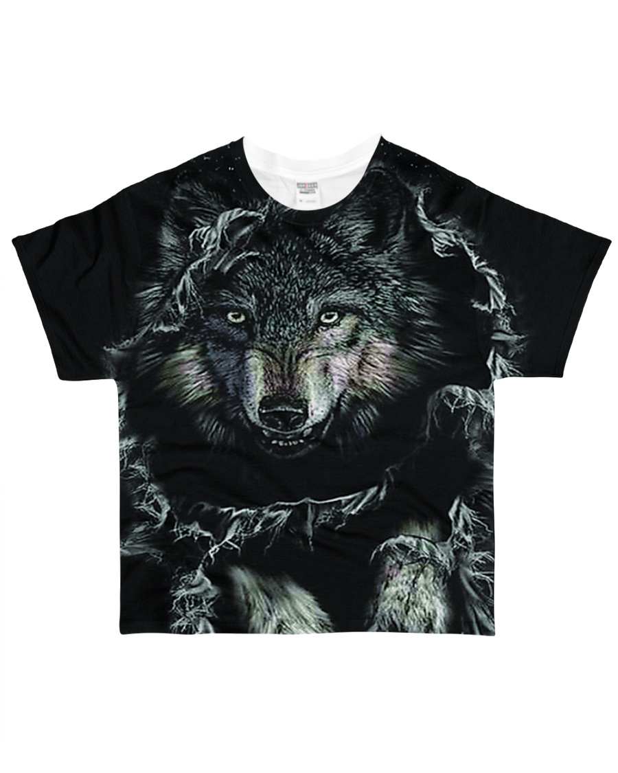 Wolf Black All-over T-Shirt