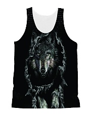 Wolf Black All-over Unisex Tank thumbnail