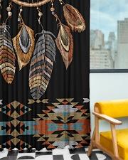 Black Dreamcatcher Window Curtain - Blackout aos-window-curtains-blackout-50x84-lifestyle-front-01