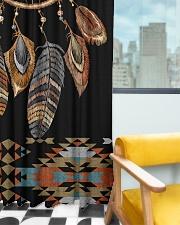 Black Dreamcatcher Window Curtain - Blackout aos-window-curtains-blackout-50x84-lifestyle-front-03