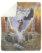 "Animal Spirit Sherpa Fleece Blanket - 50"" x 60"" thumbnail"
