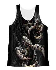 Angry Skull All-over Unisex Tank thumbnail