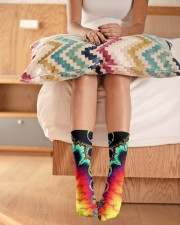 Hippie Colorful Crew Length Socks aos-accessory-crew-length-socks-lifestyle-front-01