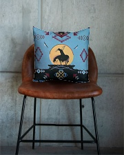 Native American Square Pillowcase aos-pillow-square-front-lifestyle-04