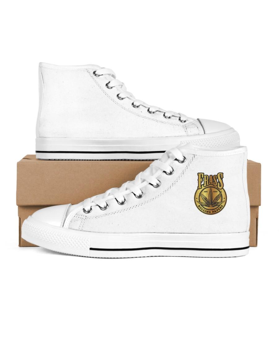 Frass Art Men's High Top White Shoes