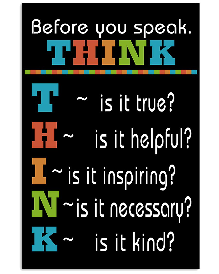 THINK 16x24 Poster