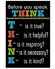 THINK 16x24 Poster front