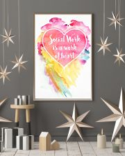 Social Work is a work of heart 16x24 Poster lifestyle-holiday-poster-1