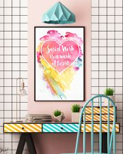 Social Work is a work of heart 16x24 Poster lifestyle-poster-6
