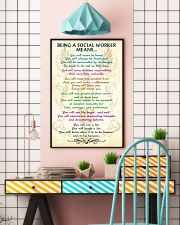 BEING A SOCIAL WORKER MEANS 16x24 Poster lifestyle-poster-6