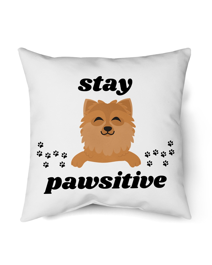 """stay pawsitive Indoor Pillow - 16"""" x 16"""""""