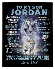 To My Son Jordan from Dad- Tiger Comforter - Twin thumbnail