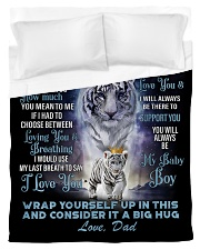 To My Son Jordan from Dad- Tiger Duvet Cover - Twin thumbnail
