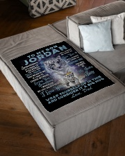 "To My Son Jordan from Dad- Tiger Small Fleece Blanket - 30"" x 40"" aos-coral-fleece-blanket-30x40-lifestyle-front-03"
