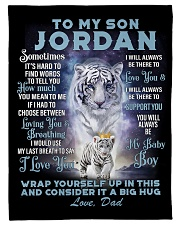 "To My Son Jordan from Dad- Tiger Small Fleece Blanket - 30"" x 40"" front"