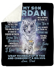 "To My Son Jordan from Dad- Tiger Sherpa Fleece Blanket - 50"" x 60"" thumbnail"