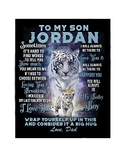 "To My Son Jordan from Dad- Tiger Quilt 40""x50"" - Baby thumbnail"