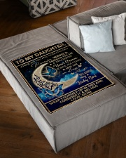 "To My Daughter From Mom - To the moon and Back Small Fleece Blanket - 30"" x 40"" aos-coral-fleece-blanket-30x40-lifestyle-front-03"