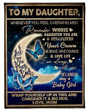 "To My Daughter From Mom - To the moon and Back Small Fleece Blanket - 30"" x 40"" front"