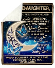 "To My Daughter From Mom - To the moon and Back Sherpa Fleece Blanket - 50"" x 60"" thumbnail"