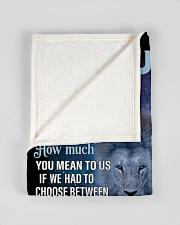 "To Our Son  Small Fleece Blanket - 30"" x 40"" aos-coral-fleece-blanket-30x40-lifestyle-front-17"