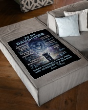"""To My Daughter From MOM Small Fleece Blanket - 30"""" x 40"""" aos-coral-fleece-blanket-30x40-lifestyle-front-03"""