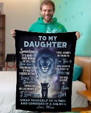 """To My Daughter From MOM Small Fleece Blanket - 30"""" x 40"""" aos-coral-fleece-blanket-30x40-lifestyle-front-09"""