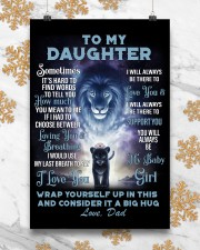 To My Daughter from Dad Lion 1 Poster 16x24 Poster aos-poster-portrait-16x24-lifestyle-23