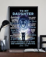 To My Daughter from Dad Lion 1 Poster 16x24 Poster lifestyle-poster-2