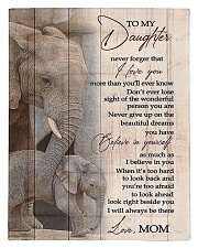 To My Daughter from Mom - Elephant Comforter - Twin thumbnail