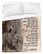 To My Daughter from Mom - Elephant Duvet Cover - Twin thumbnail