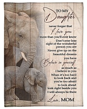 """To My Daughter from Mom - Elephant Small Fleece Blanket - 30"""" x 40"""" front"""