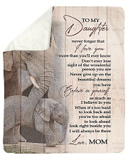"""To My Daughter from Mom - Elephant Sherpa Fleece Blanket - 50"""" x 60"""" thumbnail"""