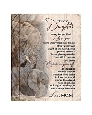 """To My Daughter from Mom - Elephant Quilt 40""""x50"""" - Baby thumbnail"""